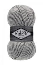 Пряжа для вязания Alize Superlana Maxi (Ализе Суперлана Макси) Цвет 208 светло серый
