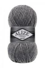 Пряжа для вязания Alize Superlana Maxi (Ализе Суперлана Макси) Цвет 21 серый