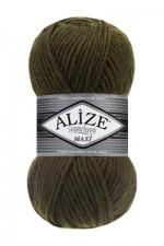 Пряжа для вязания Alize Superlana Maxi (Ализе Суперлана Макси) Цвет 214 оливковый зеленый