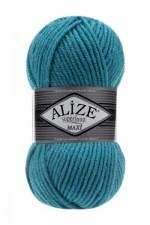 Пряжа для вязания Alize Superlana Maxi (Ализе Суперлана Макси) Цвет 287 бирюзовый