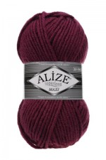 Пряжа для вязания Alize Superlana Maxi (Ализе Суперлана Макси) Цвет 307 гнилая вишня