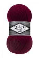Пряжа для вязания Alize Superlana Maxi (Ализе Суперлана Макси) Цвет 390 вишня