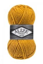 Пряжа для вязания Alize Superlana Maxi (Ализе Суперлана Макси) Цвет 488 желтый