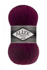 Пряжа для вязания Alize Superlana Maxi (Ализе Суперлана Макси) Цвет 495 бордо