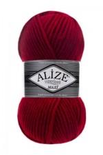 Пряжа для вязания Alize Superlana Maxi (Ализе Суперлана Макси) Цвет 56 красный