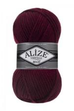Пряжа для вязания Alize Superlana Maxi (Ализе Суперлана Макси) Цвет 57 бордовый