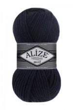Пряжа для вязания Alize Superlana Maxi (Ализе Суперлана Макси) Цвет 58 темно синий