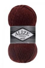 Пряжа для вязания Alize Superlana Maxi (Ализе Суперлана Макси) Цвет 588 темный терракот