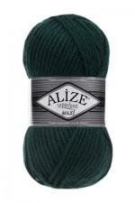 Пряжа для вязания Alize Superlana Maxi (Ализе Суперлана Макси) Цвет 598 темный изумруд