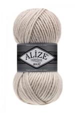 Пряжа для вязания Alize Superlana Maxi (Ализе Суперлана Макси) Цвет 599 слоновая кость