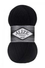 Пряжа для вязания Alize Superlana Maxi (Ализе Суперлана Макси) Цвет 60 черный