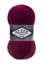 Пряжа для вязания Alize Superlana Maxi (Ализе Суперлана Макси) Цвет 649 рубин