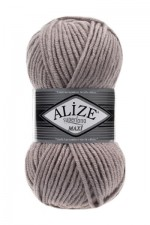 Пряжа для вязания Alize Superlana Maxi (Ализе Суперлана Макси) Цвет 652 пепельный