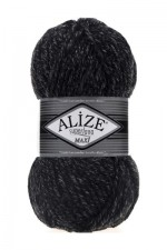 Пряжа для вязания Alize Superlana Maxi (Ализе Суперлана Макси) Цвет 800 антрацит меланж