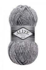Пряжа для вязания Alize Superlana Maxi (Ализе Суперлана Макси) Цвет 801 серый меланж