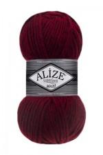 Пряжа для вязания Alize Superlana Maxi (Ализе Суперлана Макси) Цвет 802 красный меланж