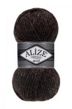 Пряжа для вязания Alize Superlana Maxi (Ализе Суперлана Макси) Цвет 804 коричневый меланж