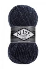 Пряжа для вязания Alize Superlana Maxi (Ализе Суперлана Макси) Цвет 805 синий меланж