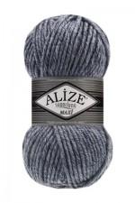 Пряжа для вязания Alize Superlana Maxi (Ализе Суперлана Макси) Цвет 806 синий жаспе