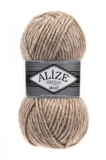 Пряжа для вязания Alize Superlana Maxi (Ализе Суперлана Макси) Цвет 807 бежевый жаспе
