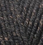 Пряжа для вязания Alize Superlana Maxi (Ализе Суперлана Макси) Цвет 808 черный жаспе