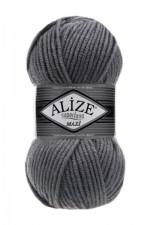 Пряжа для вязания Alize Superlana Maxi (Ализе Суперлана Макси) Цвет 87 серый
