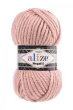 Пряжа для вязания Alize Superlana Megafil (Ализе Суперлана Мегафил) Цвет 161 пудра
