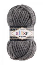 Пряжа для вязания Alize Superlana Megafil (Ализе Суперлана Мегафил) Цвет 182 темно серый