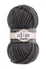 Пряжа для вязания Alize Superlana Megafil (Ализе Суперлана Мегафил) Цвет 196 темно серый