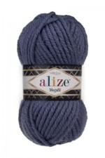 Пряжа для вязания Alize Superlana Megafil (Ализе Суперлана Мегафил) Цвет 203 джинсовый