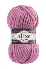 Пряжа для вязания Alize Superlana Megafil (Ализе Суперлана Мегафил) Цвет 28 сухая роза