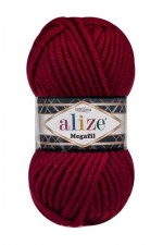 Пряжа для вязания Alize Superlana Megafil (Ализе Суперлана Мегафил) Цвет 390 вишня