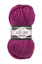 Пряжа для вязания Alize Superlana Megafil (Ализе Суперлана Мегафил) Цвет 50 фуксия