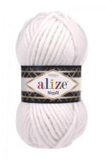 Пряжа для вязания Alize Superlana Megafil (Ализе Суперлана Мегафил) Цвет 55 белый