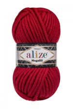 Пряжа для вязания Alize Superlana Megafil (Ализе Суперлана Мегафил) Цвет 56 красный