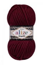 Пряжа для вязания Alize Superlana Megafil (Ализе Суперлана Мегафил) Цвет 57 бордовый