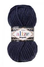 Пряжа для вязания Alize Superlana Megafil (Ализе Суперлана Мегафил) Цвет 58 темно синий