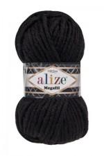 Пряжа для вязания Alize Superlana Megafil (Ализе Суперлана Мегафил) Цвет 60 черный