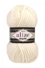 Пряжа для вязания Alize Superlana Megafil (Ализе Суперлана Мегафил) Цвет 62 кремовый