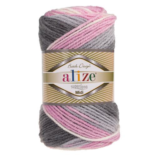 Купить пряжу Alize Superlana Midi Batik (Ализе Суперлана
