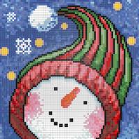 """Алмазная живопись №02 """"Алмазная живопись"""" """"Алмазная живопись"""" №02 Набор для изготовления картины из страз АЖ-1262 """"Портрет снеговика"""" 20х20 см"""