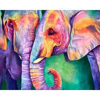 """Алмазная живопись №37 """"Алмазная живопись"""" №37 Набор для изготовления картины из страз АЖ-1385 """"Мудрость слонов"""" 40 х 50 см"""