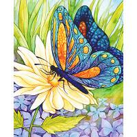 "Алмазная живопись АЖ-1129 ""Алмазная живопись"" АЖ-1129 ""Бабочка и цветок"" 30 х 38 см"