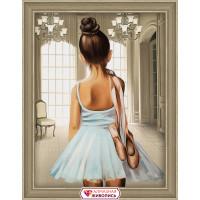 "Алмазная живопись АЖ-1559 ""Алмазная живопись"" АЖ-1559 ""Юная балерина"" 30 х 40 см"