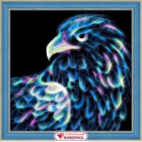 "Алмазная живопись АЖ-1712 ""Алмазная живопись"" АЖ-1712 ""Неоновый орёл"" 25 х 25 см"
