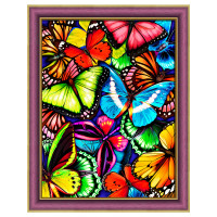 "Алмазная живопись АЖ-1725 ""Алмазная живопись"" АЖ-1725 ""Яркие бабочки"" 30 х 40 см"