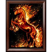 "Алмазная живопись АЖ-1850 ""Алмазная живопись"" АЖ-1850 ""Огненный конь"" 30 х 40 см"