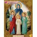 Алмазная живопись АЖ-5016 Икона Вера, Надежда, Любовь