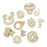 """American Crafts 331341 Набор деревянных украшений """"Punctuation"""""""