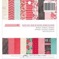"American Crafts 732397 Набор бумаги Pebbles ""Yours Truly"" 15,2х15,2см (36 листов)"